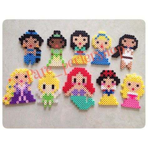 hama bead princess designs disney princesses mulan cinderella