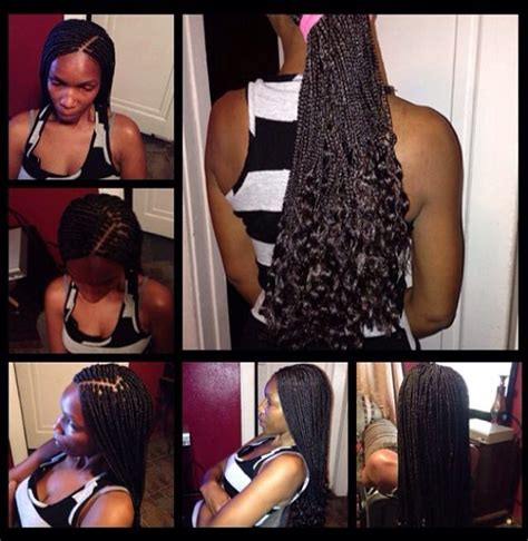 box braids with curly ends small box braids w curly ends small size box braids by