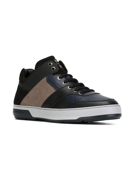 ferragamo sneakers mens ferragamo sneakers in black for lyst