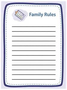 10 best images of family rules chart free printable