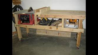 how to make a table saw bench saw and router table extension project youtube