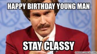 Happy Birthday Old Man Meme - happy birthday young man
