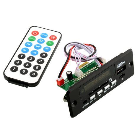 Remote Mp3 3 black new remote usb sd mp3 player module 02cbt remote dc5v 12v parts with bluetooth 3 0