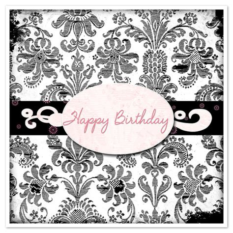happy birthday card template black and white happy birthday in black and white damask invitations