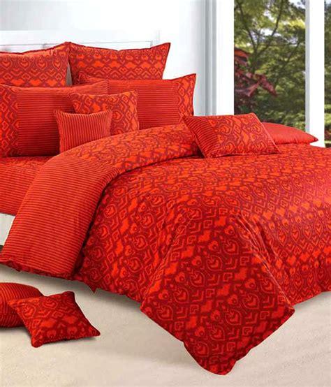 orange bed in a bag swayam shades of paradise orange bed in a bag set of 8