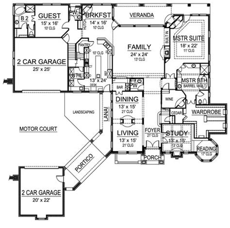 house plans with portico winged foot 4444 5 bedrooms and 5 baths the house