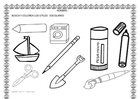 imagenes de utiles escolares en ingles para colorear dibujos para colorear de utiles escolares ideas