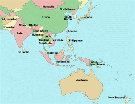 labelled map of asia free coloring pages of labeled asia map