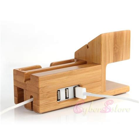 lade da scrivania best for apple iwatch iphone bamboo charging station