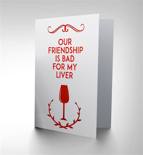 Who Use Giftcards Are Bad by New Friend Wine Bad Liver Greetings Greeting