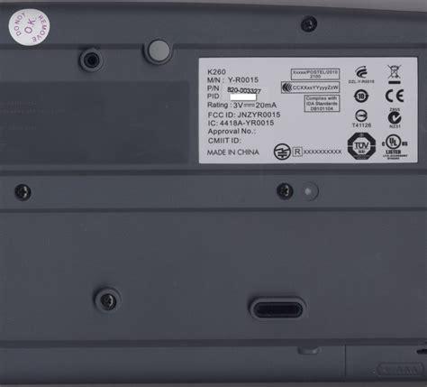 Keyboard Logitech K260 wireless combo mk260 logitech support