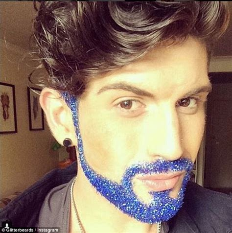 hipsters are covering their beards in glitter for the