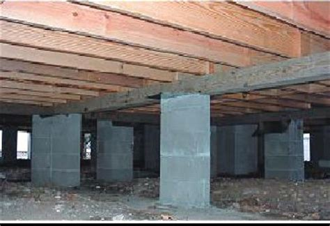 exterior education center design with cabin foundation piers and pier and beam foundation also crawl space repair in ta foundation masters