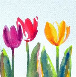 simple and sweet original watercolor painting just in time