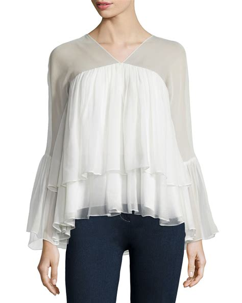Ruffled Sleeve Blouse elizabeth and alanis sleeve ruffled blouse in