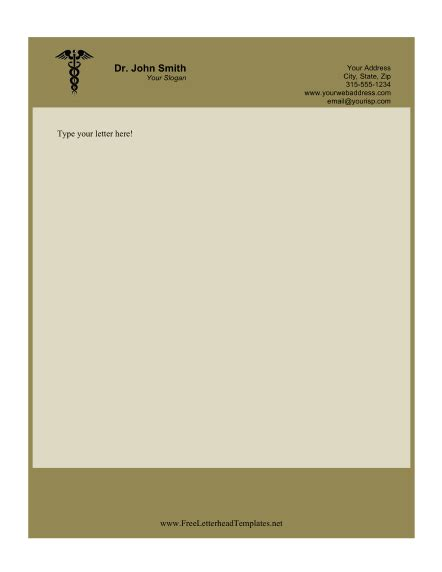 doctor letterhead template doctor business letterhead
