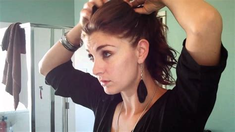 front poof long back hairstyle high bun with poof youtube