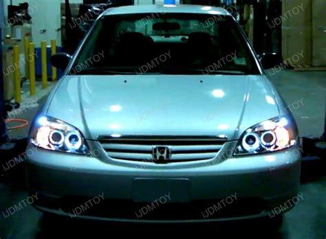 2003 honda civic lx tail light 01 03 honda civic black halo angel eyes projector led