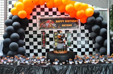 motorcycle birthday party ideas photo    catch