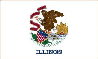 illinois state colors illinois state flag coloring pages usa for