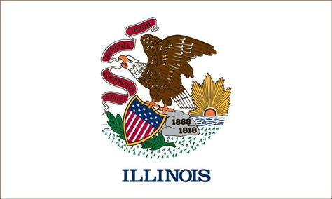 illinois state flag coloring pages usa for