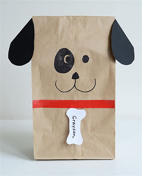 paper a puppy paper bag dogs willowday