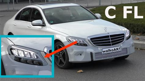 mercedes c class headlights mercedes c class facelift finally shows led