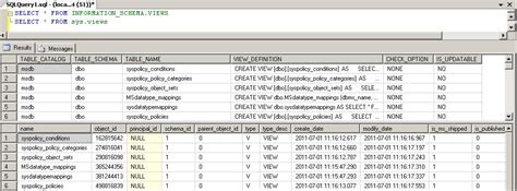 Sys Tables by Information Schema The Un Sung System Views Sql Server