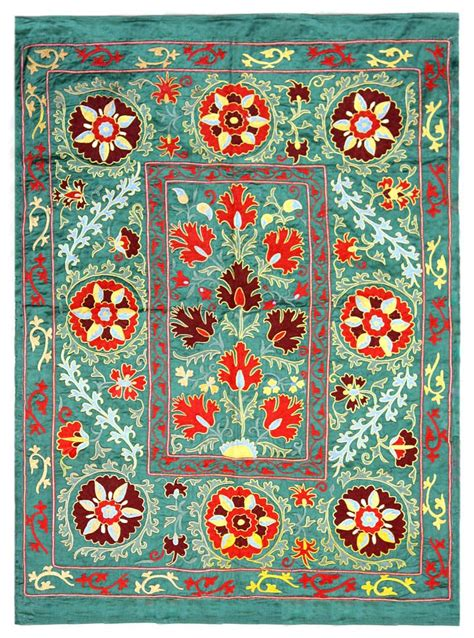 uzbek suzani embroidered textile used as throw wall hanging or 505 best ikat suzani images on pinterest