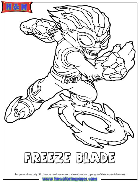 skylanders swap force water freeze blade coloring page h