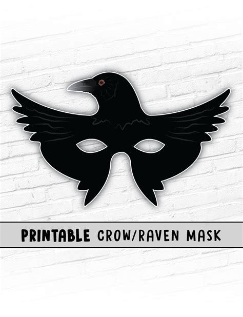 printable raven mask raven mask printable halloween mask crow mask kids party
