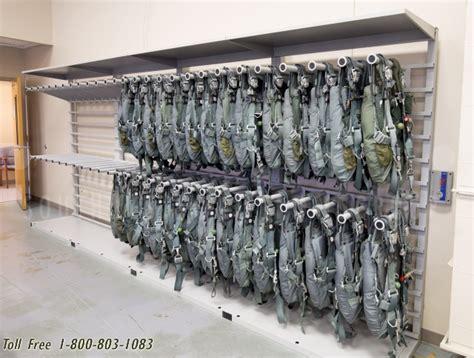 parachute rack storage system flight crew