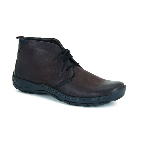 artos brown leather lace up boot