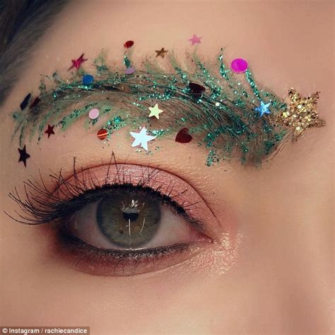images of christmas eyebrows christmas tree eyebrows are december 2017 s beauty trend