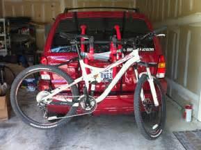 new bike rack w suspension bike mounted flickr