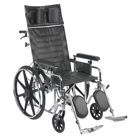 drive reclining wheelchair drive medical sentra reclining wheelchair detachable