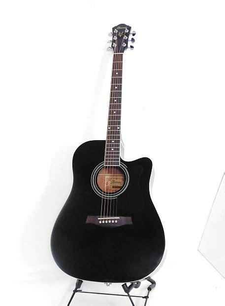 ibanez vce bk acousticelectric guitar black reverb