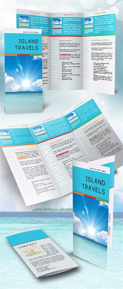 Free Tri Fold Brochure Template Indesign indesign tri fold brochure template free do it yourself