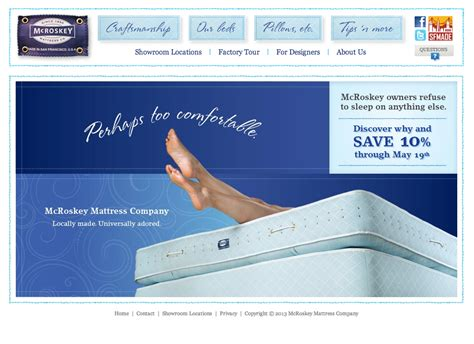 Mccroskey Mattress by Mcroskey Mattress Company Gets A Crafted Makeover