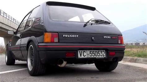 peugeot cars please peugeot 205 1 9 gti gutmann sound fire youtube