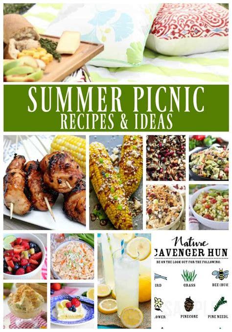 summer picnic recipes ideas a dash of sanity