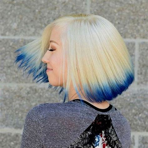 blonde bob dip dye 30 creative emo hairstyles and haircuts for girls in 2017