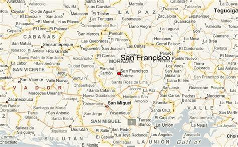 san francisco latitude map san francisco el salvador location guide