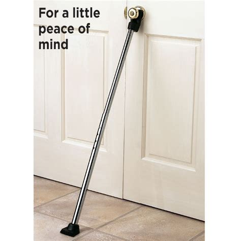 door metal security bar safety floor to door