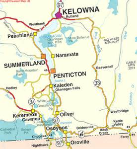 kelowna canada map bc maps thompson okanagan region south okanagan map