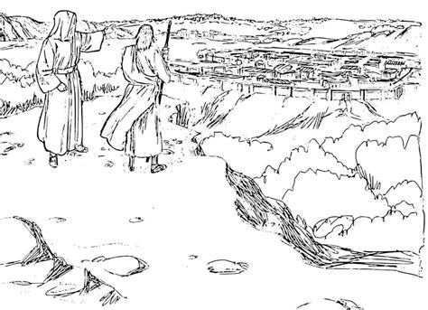 coloring page jesus in the desert jesus is tempted in the desert coloring pages coloring