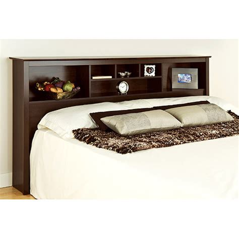 Storage Headboard by Edenvale King Storage Headboard Espresso Prepac Furniture Walmart