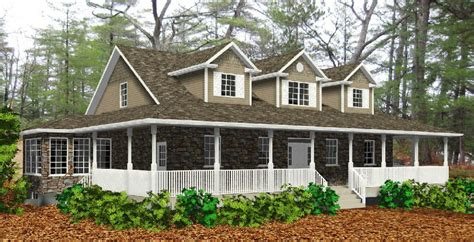 House With Porch Wrap Around Porch Home Designs House Design