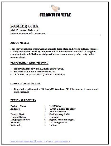 sle resume format for freshers call center bpo call centre resume sle 1 career