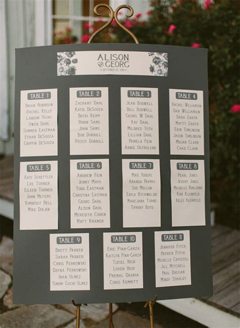 the 8 most unique seating chart ideas the 10 inspiring wedding seating charts